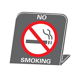 No Smoking Desk Sign