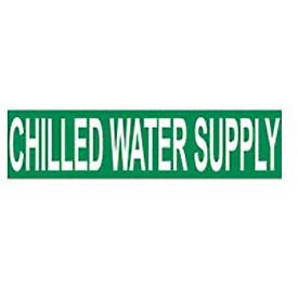 Pressure-Sensitive Pipe Marker - Chilled Water Supply, Pack Of 25