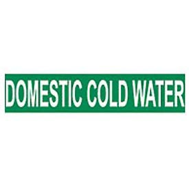 Pressure-Sensitive Pipe Marker - Domestic Cold Water, Pack Of 25