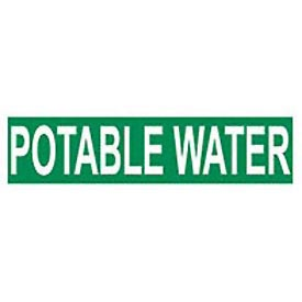 Pressure-Sensitive Pipe Marker - Potable Water, Pack Of 25