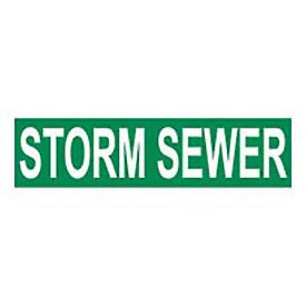 Pressure-Sensitive Pipe Marker - Storm Sewer, Pack Of 25 - Pkg Qty 25