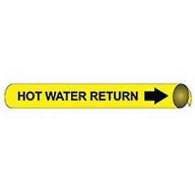 Precoiled and Strap-on Pipe Marker - Hot Water Return