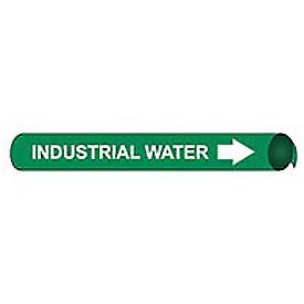 Precoiled and Strap-on Pipe Marker - Industrial Water