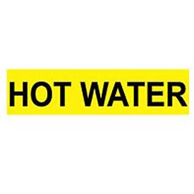 Pressure-Sensitive Pipe Marker - Hot Water, Pack Of 25