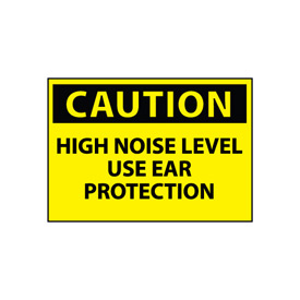 Machine Labels - Caution High Noise Level Use Ear Protection