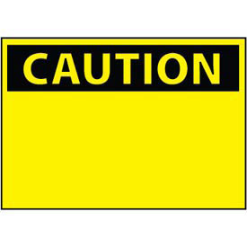 Machine Labels - Caution Blank with Header Only