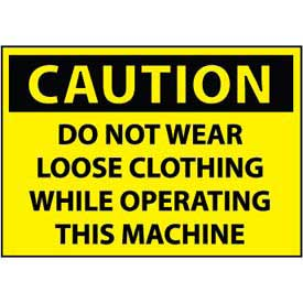 Machine Labels - Caution Do Not Wear Loose Clothing