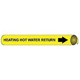 Precoiled and Strap-on Pipe Marker - Heating Hot Water Return