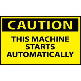 Machine Labels - Caution This Machine Starts Automatically