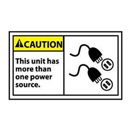 Graphic Machine Labels - Caution This Unit Has More Than One Power Source