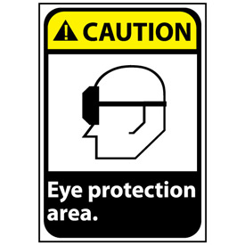 Caution Sign 14x10 Aluminum - Eye Protection Area
