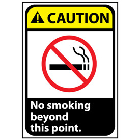 Caution Sign 14x10 Vinyl - No Smoking Beyond This Point