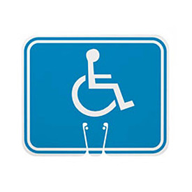 Cone Sign - Handicapped