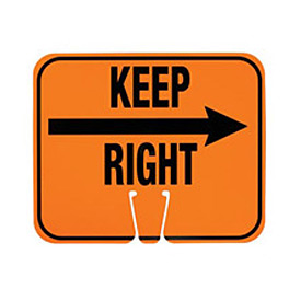 Cone Sign - Keep Right