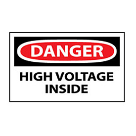 Machine Labels - Danger High Voltage Inside