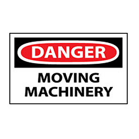 Machine Labels - Danger Moving Machinery