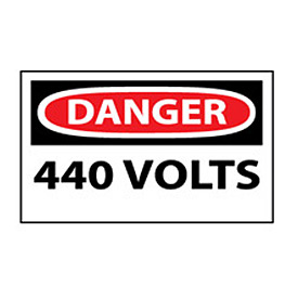 Machine Labels - Danger 440 Volts