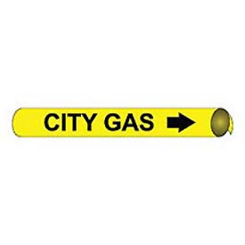 Precoiled and Strap-on Pipe Marker - City Gas