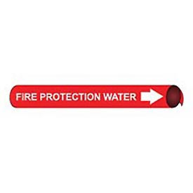 Precoiled and Strap-on Pipe Marker - Fire Protection Water