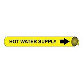 Precoiled and Strap-on Pipe Marker - Hot Water Supply