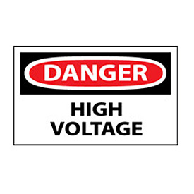 Machine Labels - Danger High Voltage