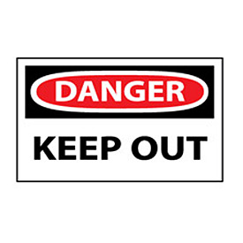 Machine Labels - Danger Keep Out