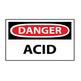 Machine Labels - Danger Acid