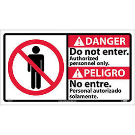 Bilingual Vinyl Sign - Danger Do Not Enter Authorized Personnel Only