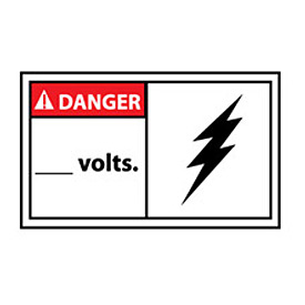 Graphic Machine Labels - Danger Blank Volts