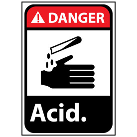 Danger Sign 14x10 Vinyl - Acid