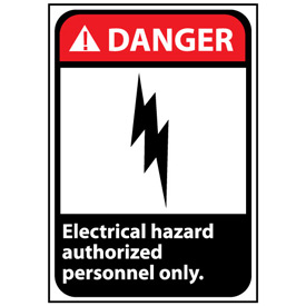 Danger Sign 14x10 Aluminum - Electrical Hazard Authorized Personnel Only