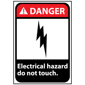 Danger Sign 14x10 Vinyl - Electrical Hazard Do Not Touch