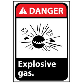 Danger Sign 14x10 Vinyl - Explosive Gas