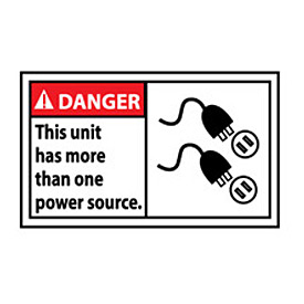 Graphic Machine Labels - Danger This Unit Has More Than One Power Source