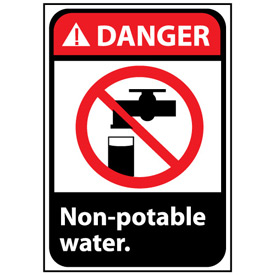 Danger Sign 14x10 Rigid Plastic - Non-Potable Water