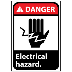 Danger Sign 14x10 Rigid Plastic - Electrical Hazard