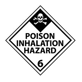 DOT Placard - Poison Inhalation Hazard 6