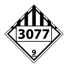 DOT Placard - Four Digit 3077