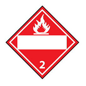 DOT Placard - Flammable Gas 2
