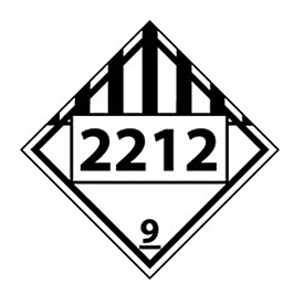 DOT Placard - Four Digit 2212