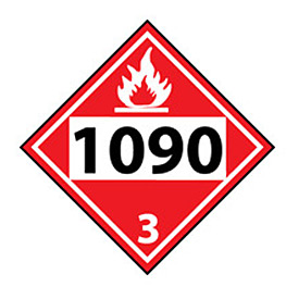 DOT Placard - Four Digit 1090