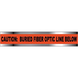 "Detectable Underground Warning Tape - Caution Buried Fiber Optic Line - 3""W"
