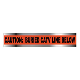 "Detectable Underground Warning Tape - Caution Buried CATV Line Below - 6""W"