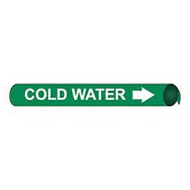 Precoiled and Strap-on Pipe Marker - Cold Water