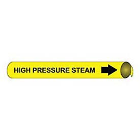 Precoiled and Strap-on Pipe Marker - High Pressure Steam