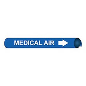 Precoiled and Strap-on Pipe Marker - Medical Air