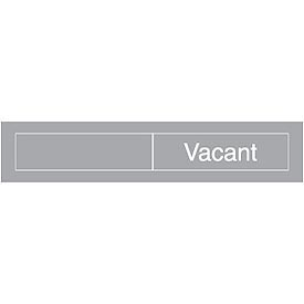 Engraved Occupancy Sign - Occupied Vacant - Gray