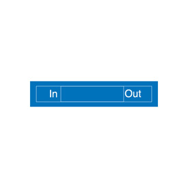 Engraved Occupancy Sign - In Out - Blue