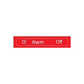 Engraved Occupancy Sign - Alarm On Off - Blue