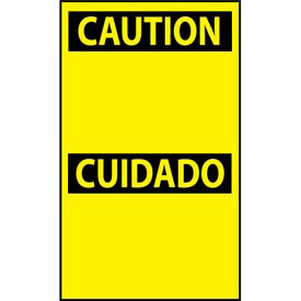Bilingual Machine Labels - Caution Cuidado Header